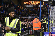 Stewards prepare for for the Blackburn Rovers Fans  during the EFL Sky Bet League 1 match between Bury and Blackburn Rovers at the JD Stadium, Bury, England on 18 November 2017. Photo by Mark Pollitt.