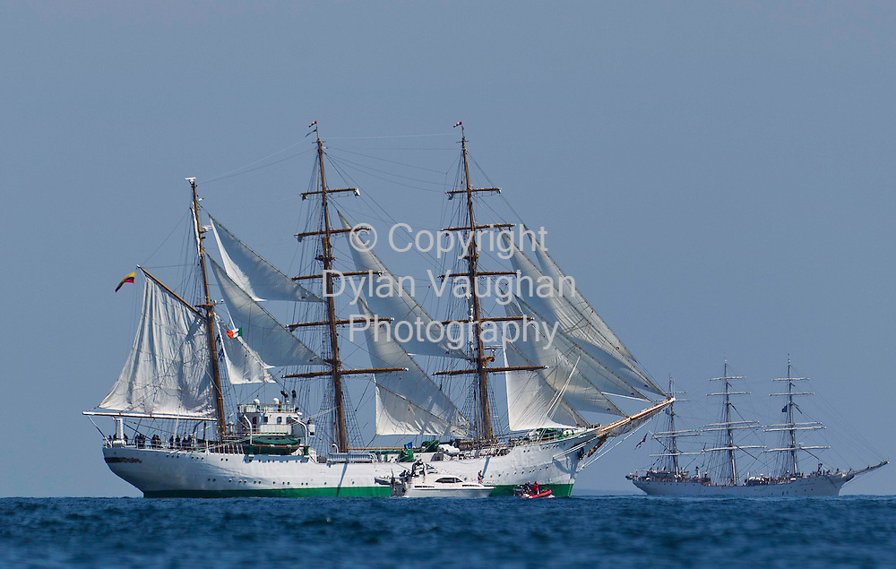 3/7/2011. no charge for Repro.The Tall Ship Gloria from Colombia pictured of Dunmore East at the Tall Ships Race in Waterford yesterday..Picture Dylan Vaughan