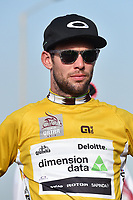 Podium, CAVENDISH Mark (GBR) Dimension Data, Yellow Gold Leader Jersey,  during the 15th Tour of Qatar 2016, Stage 1, Dukhan - Al Khor Corniche (176,5Km), on February 8, 2016 - Photo Tim de Waele / DPPI