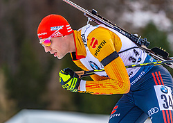 16.01.2020, Chiemgau Arena, Ruhpolding, GER, IBU Weltcup Biathlon, Sprint, Herren, im Bild Arnd Peiffer (GER) // Arnd Peiffer of Germany during the men's sprint competition of BMW IBU Biathlon World Cup at the Chiemgau Arena in Ruhpolding, Germany on 2020/01/16. EXPA Pictures © 2020, PhotoCredit: EXPA/ Stefan Adelsberger