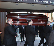Feb. 7, 2014 - New York, New York, U.S. - <br /> <br /> Philip Seymour Hoffman Funeral<br /> The casket for actor Philip Seymour Hoffman leaves the Frank E. Campbell Funeral Home on the Upper East Side. Hoffman died of a suspected heroin overdose on February 2. <br /> ©exclusivepix