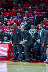 NORMAL, IL - December 18: Tony Harvey, Steve McLain and Rod Clark during a college basketball game between the ISU Redbirds and the UIC Flames on December 18 2019 at Redbird Arena in Normal, IL. (Photo by Alan Look)