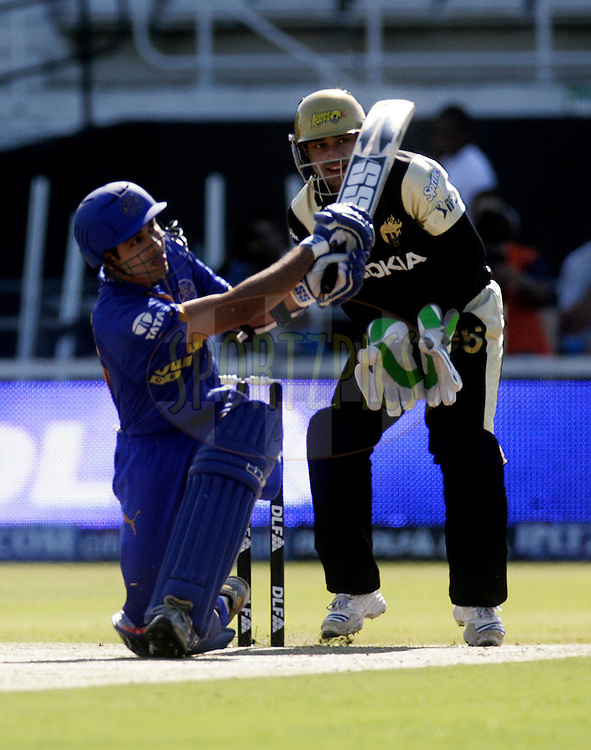 DURBAN, SOUTH AFRICA - 20 May 2009.  during the IPL Season 2 match between the Rajasthan Royals and the Kolkata Knight Riders held at Sahara Stadium Kingsmead, Durban, South Africa...