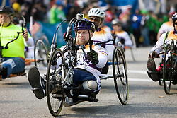 mobility-impaired athlete rolls out at start of race