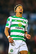 Scott Sinclair (#11) of Celtic reacts to missing a chance during the Betfred Cup Final between Celtic and Aberdeen at Celtic Park, Glasgow, Scotland on 2 December 2018.