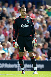 BIRKENHEAD, ENGLAND - Saturday, July 12, 2008: Liverpool's goalkeeper Diego Cavalieri during his side's first pre-season match of the 2008/2009 season against Tranmere Rovers at Prenton Park. (Photo by David Rawcliffe/Propaganda)