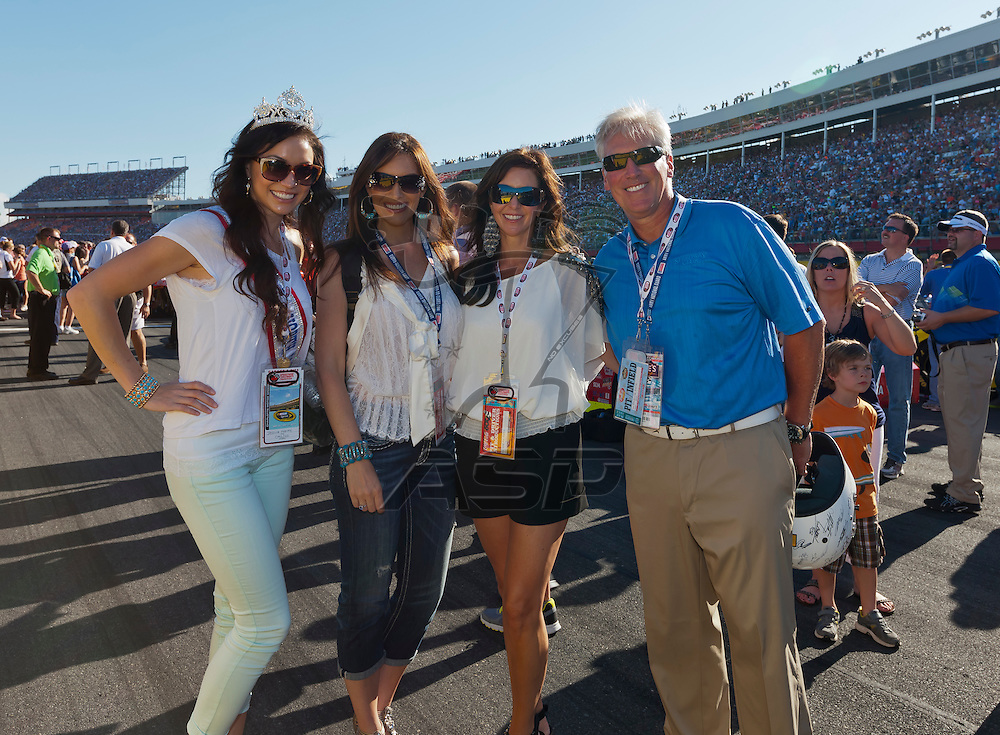 CONCORD, NC - MAY 27, 2012:  Mrs. North Carolina, Jessica Harvey, poses for a photo before the Coca-Cola 600 race at the Charlotte Motor Speedway in Concord, NC.