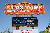 Sign for Sam's Town hotel and casino on Boulder Highway in Las Vegas Nevada