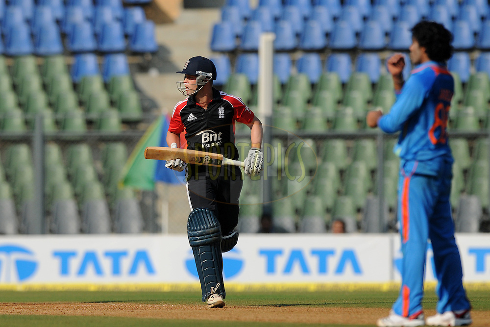 Jonathan Trott of England bats during the 4th One Day International ( ODI ) match between India and England held at the Wankhede Stadium, Mumbai on the 23rd October 2011..Photo by Pal Pillai/BCCI/SPORTZPICS