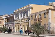Colonial building. San Vincente. Mindelo. Cabo Verde. Africa.