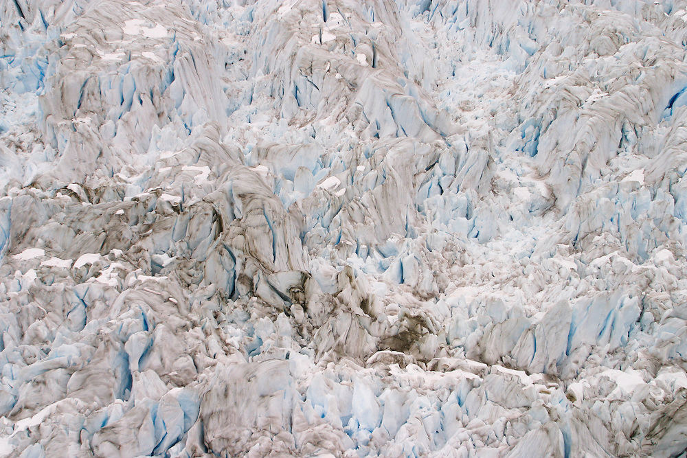 Aerial views of the Marinelli glacier in the Darwin Range of the Andes Mountains, Chile, Jan. 23, 2004. Daniel Beltra/Greenpeace.