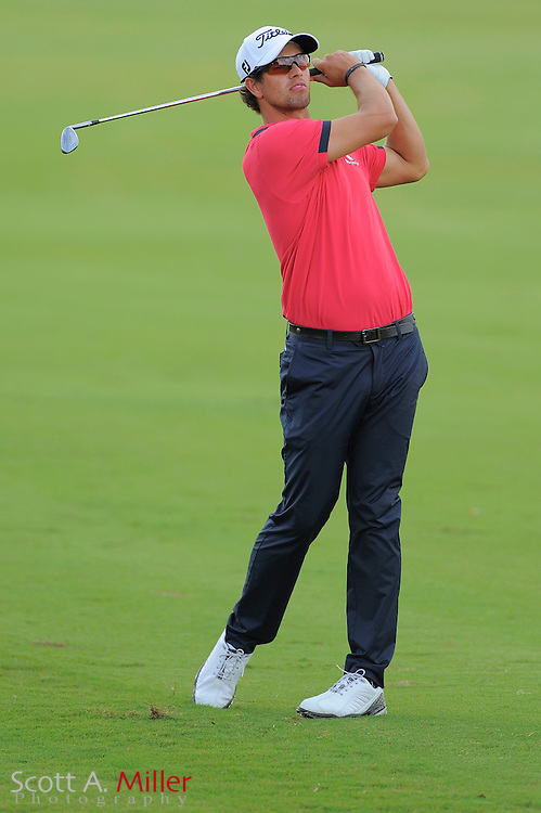 Adam Scott during the first round of the World Golf Championship Cadillac Championship on the TPC Blue Monster Course at Doral Golf Resort And Spa on March 8, 2012 in Doral, Fla. ..©2012 Scott A. Miller.