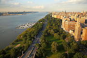 View up the Hudson River and Riverside Park from 240 Riverside Boulevard