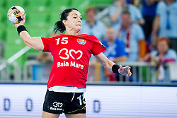 Valentina Ardean Elisei of HCM Baia Mare during handball match between RK Krim Mercator (SLO) and HCM Baia Mare (ROM) in 1st Round of Women's EHF Champions League 2015/16, on October 16, 2015 in Arena Stozice, Ljubljana, Slovenia. Photo by Urban Urbanc / Sportida