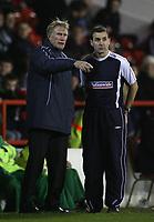 Photo: Paul Thomas.<br /> Nottingham Forest v Salisbury. The FA Cup. 12/12/2006.<br /> <br /> Salibury maanager Nick Holmes (L) and coach Tommy Widdington talk tatics.