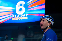 February 10, 2019 - Melbourne, VIC, U.S. - MELBOURNE, VIC - FEBRUARY 08: Shane Perkins of Russia watches on prior to his sprint at The Six Day Cycling Series on February 08, 2019 at Melbourne Arena, VIC. (Photo by Speed Media/Icon Sportswire) (Credit Image: © Speed Media/Icon SMI via ZUMA Press)