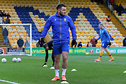 Mansfield Town midfielder Alex MacDonald (7) warming up before the EFL Sky Bet League 2 match between Mansfield Town and Grimsby Town FC at the One Call Stadium, Mansfield, England on 4 January 2020.