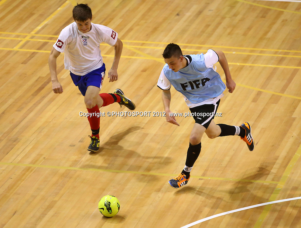 U19 Showcase Game. ASB Trans Tasman Cup, Futsal Whites v Futsal Roos, ASB Stadium, Kohimarama, FSaturday 22 September 2012. Photo: Simon Watts/photosport.co.nz