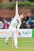 Dom Bess of Somerset bowling during the opening day of the Specsavers County Champ Div 1 match between Somerset County Cricket Club and Hampshire County Cricket Club at the Cooper Associates County Ground, Taunton, United Kingdom on 11 May 2018. Picture by Graham Hunt.