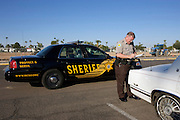 UNITED STATES-SUN CITY- Sun City, a retirement community in Arizona. The Sheriff's Posse. PHOTO: GERRIT DE HEUS .VERENIGDE STATEN-SUN CITY-  Sun City. Vrijwillige politie.  PHOTO GERRIT DE HEUS