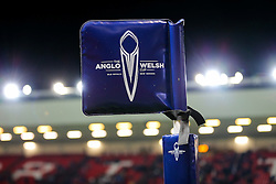 Anglo Welsh cup flag - Rogan Thomson/JMP - 11/11/2016 - RUGBY UNION - Ashton Gate Stadium - Bristol, England - Bristol Rugby v Sale Sharks - Anglo Welsh Cup.