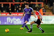 Glen Rea (16) of Luton Town passes the ball during the EFL Sky Bet League 2 match between Exeter City and Luton Town at St James' Park, Exeter, England on 26 November 2016. Photo by Graham Hunt.