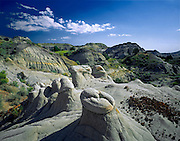AA02138-01...NORTH DAKOTA - Hoodoo clay formations along Achenbach Trail in Theodore Roosevelt National Park.