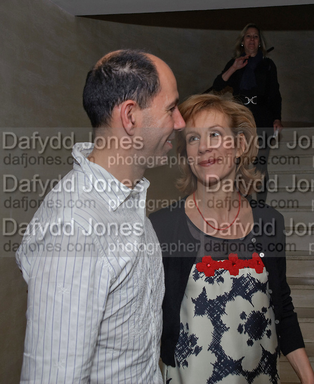 MATTHEW LLOYD; JULIET STEVENSON, Duet for One first night party. Axiis, One Aldwych, London. 12 May 2009