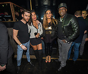 EXCLUSIVE<br /> Floyd Mayweather on his UK tour Emile Heskey with his wife Chantelle and Chantelle's sister inside Playground nightclub in Liverpool.  <br /> ©Peter Powell/Exclusivepix Media