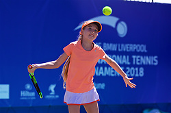 LIVERPOOL, ENGLAND - Sunday, June 24, 2018: Sofia Segui-Edmondson during day four of the Williams BMW Liverpool International Tennis Tournament 2018 at Aigburth Cricket Club. (Pic by Paul Greenwood/Propaganda)