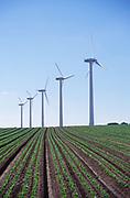 AYBR0B Onshore wind turbines West Somerton Norfolk England