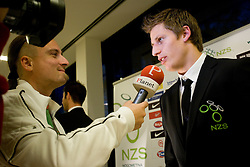 Journalist of Siol Sportal Rok Plestenjak and Valter Birsa at official presentation of Slovenian National Football team for World Cup 2010 South Africa, on May 21, 2010 in Congress Center Brdo at Kranj, Slovenia. (Photo by Vid Ponikvar / Sportida)