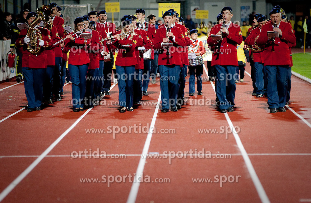 Music band during celebration of 90-years Anniversary of NK Domzale on October 15, 2011, in Stadium Sports park, Domzale, Slovenia.   (Photo by Vid Ponikvar / Sportida)
