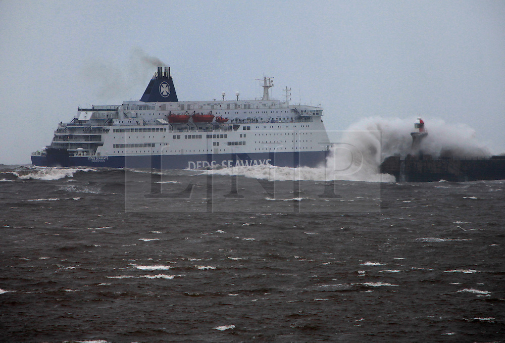 DFDS FERRY IN ROUGH NORTH SEA London News Pictures - Cruise ship hits rough seas