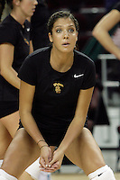 11 October 2008: Pac-10 Women's Volleyball No. 10 ranked Washington Huskies snaps No. 11 USC's Women of Troy Home Winning streak at 32 during a 3 sets to 2 set win for the Huskies who hit .409 in the final set to earn the five-set win at the Galen Center in Southern California, CA. #11 Audrey Eichler from Pacific Palisades.