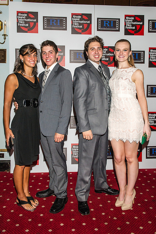 """The cast of """"Brilliant Mistakes"""" appear on the red carpet at the Rhode Island International Film Festival, where the world premiere of the movie was presented on August 11, 2012 at the Veteran's Memorial Auditorium in Providence, RI."""