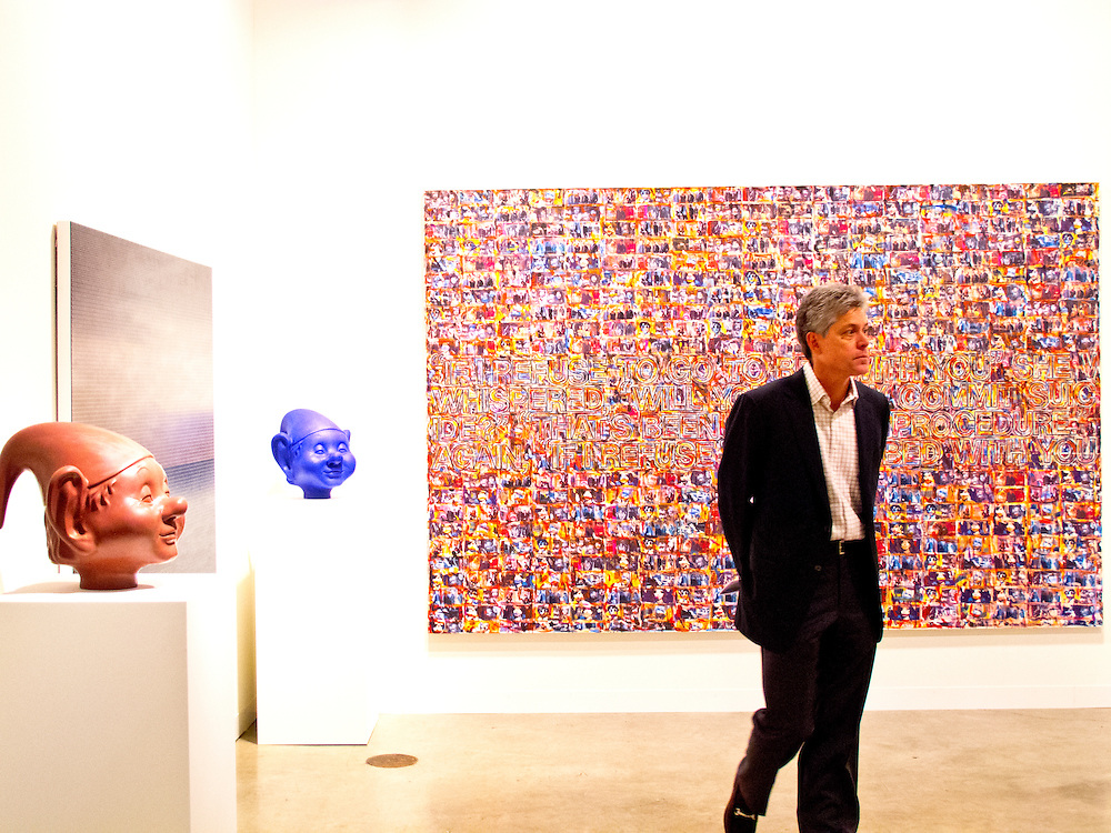 "Big piece is ""Untitled (Portrait )Sonic Youth"" by Richard Prine at the Richard Gray Gallery space at Art Basel Miami Beach 2010."