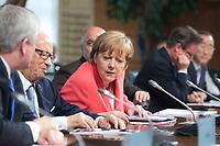 08 JUN 2015, ELMAU/GERMANY:<br /> Beji Caid Essebsi (L), Praesident Tunesien, und Angela Merkel (R), Bundeskanzlerin Deutschland, vor Beginn der Sitzung der G7-Regierungschefs mit Vertretern afrikanischer Staaten (den sog. Outreach-Staaten) und internationaler Organisationen zu den Themen Entwicklungszusammenarbeit, Frauen und Gesundheit,<br /> Schloss Elmau<br /> IMAGE: 20150608-01-030<br /> KEYWORDS: Garmisch-Patenkrichen, G7 Summit