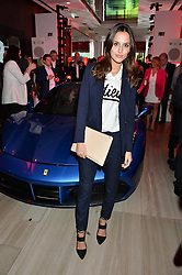 LUCY WATSON at the launch of the new Ferrari 488 Spider held at Watches of Switzerland, 155 Regent Street, London on 25th February 2016.
