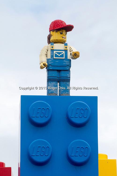 Lego figures at the entrance of Legoland in Carlsbad, California(Photo by Ringo Chiu/PHOTOFORMULA.com)