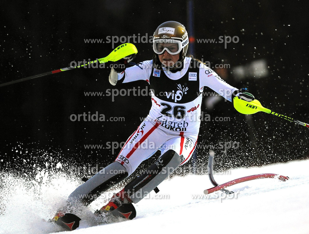04.01.2013, Crveni Spust, Zagreb, AUT, FIS Ski Alpin Weltcup, Slalom, Damen, 1. Lauf, im Bild Bernadette Schild (AUT) // Bernadette Schild of Austria  in action during 1st Run of the ladies Slalom of the FIS ski alpine world cup at Crveni Spust course in Zagreb, Croatia on 2013/01/04. EXPA Pictures © 2013, PhotoCredit: EXPA/ Erich Spiess