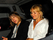 30.08.2007. LONDON<br /> <br /> SIENNA MILLER AND BOYFRIEND RHYS EVANS LEAVING A FRIENDS HOUSE IN NOTTING HILL AT 3.30AM LOOKING A LITLLE WORSE FOR WEAR. SIENNA HAD BEEN CELEBRATING THE LAUNCH OF HER NEW CLOTHING RANGE TWENTY8TWELVE. SIENNA HAD A WHITE SUPSTANCE UP HER NOSE AND HALF HER NAIL VARNISH MISSING FROM HER NAILS AND WAS LAUGHING WITH FRIENDS IN THE BACK OF A CAR.<br /> <br /> BYLINE: EDBIMAGEARCHIVE.CO.UK<br /> <br /> *THIS IMAGE IS STRICTLY FOR UK NEWSPAPERS AND MAGAZINES ONLY*<br /> *FOR WORLD WIDE SALES AND WEB USE PLEASE CONTACT EDBIMAGEARCHIVE - 0208 954 5968*