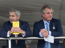 British businessman Sir Stuart Rose (left) and Lord William Astor (right) on the second day of Glorious Goodwood<br /> London, United Kingdom,<br /> Wednesday, 31st July 2013<br /> Picture by i-Images