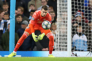 Dinamo Zagreb goalkeeper Dominik Livakovic (40) during the Champions League match between Manchester City and Dinamo Zagreb at the Etihad Stadium, Manchester, England on 1 October 2019.