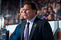 REGINA, SK - MAY 20: Regina Pats' assistant coach Dave Struch stands on the bench against the Acadie-Bathurst Titan at the Brandt Centre on May 20, 2018 in Regina, Canada. (Photo by Marissa Baecker/CHL Images)