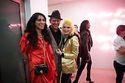 SERENA REES; PAUL SIMONON; PAM HOGG, Tracey Emin opening. White Cube. Mason's Yard. London. 28 May 2009.