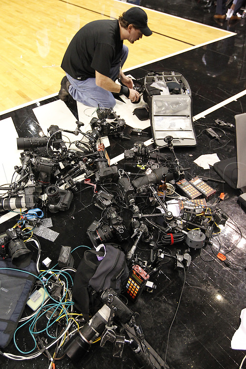 Sports Illustrated photographer Greg Nelson wonders if he can pack all that remote camera gear in a single Think Tank Photo Airport Security roller?
