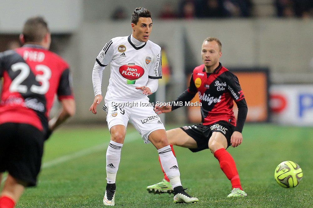 Gianni BRUNO / Lars JACOBSEN  - 24.01.2015 - Guingamp / Lorient - 22eme journee de Ligue1<br />