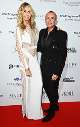 Melissa Odabash and Julien Macdonald attending the 9th Annual Global Gift Gala held at the Rosewood Hotel, London. Picture date: Friday November 2nd 2018. Photo credit should read: Matt Crossick/ EMPICS Entertainment.