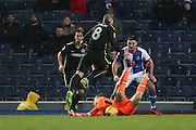 Blackburn Rovers goalkeeper, Jason Steele (1) saves during the EFL Sky Bet Championship match between Blackburn Rovers and Brighton and Hove Albion at Ewood Park, Blackburn, England on 13 December 2016.